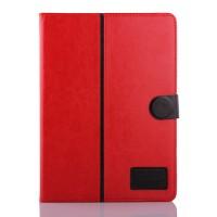 Чехол подставка с внутренними отсеками и магнитной защелкой для Samsung Galaxy Tab S 10.5 Красный