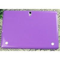 Силиконовый матовый полупрозрачный чехол для Samsung Galaxy Tab S 10.5 Фиолетовый