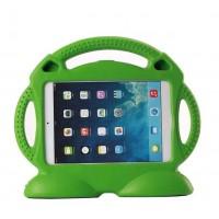 Антиударный силиконовый детский чехол подставка с ручкой для Ipad Air 2 Зеленый