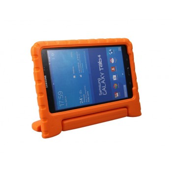 Антиударный силиконовый детский гипоаллергенный чехол с ручкой-подставкой для Samsung GALAXY Tab 4 8.0