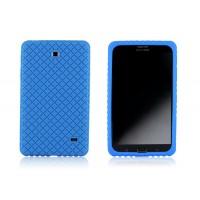 Силиконовый матовый непрозрачный чехол для Samsung GALAXY Tab 4 7.0 Синий