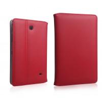 Кожаный чехол подставка для Samsung GALAXY Tab 4 7.0 Красный