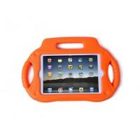 Антиударный силиконовый детский чехол с ножкой-подставкой и ручками для Ipad Mini 1/2/3 Оранжевый
