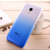 Пластиковый градиентный полупрозрачный чехол для Meizu M2 Note Синий