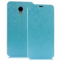 Текстурный чехол флип подставка на присоске для Meizu M2 Note Голубой