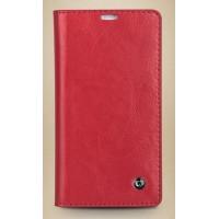 Кожаный чехол портмоне для Sony Xperia SP Красный