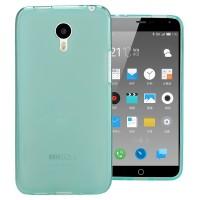 Силиконовый матовый полупрозрачный чехол для Meizu M2 Note Голубой