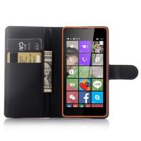 Чехол портмоне подставка с защелкой для Microsoft Lumia 540 Черный