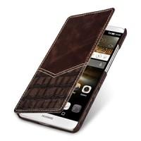 Эксклюзивный кожаный чехол горизонтальная книжка (2 вида нат. кожи) для Huawei Ascend Mate 7