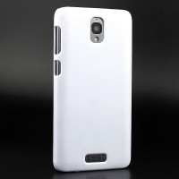 Пластиковый матовый непрозрачный чехол для Lenovo S660 Белый