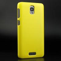 Пластиковый матовый непрозрачный чехол для Lenovo S660 Желтый