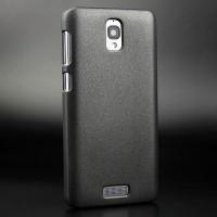 Пластиковый матовый непрозрачный чехол для Lenovo S660 Черный
