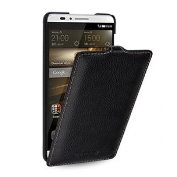 Кожаный чехол вертикальная книжка (нат. кожа) для Huawei Ascend Mate 7