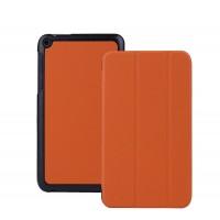 Чехол флип подставка сегментарный для Asus FonePad 8 Оранжевый