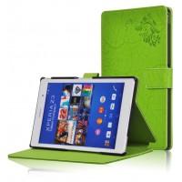 Чехол подставка текстурный для Sony Xperia Z3 Tablet Compact Зеленый