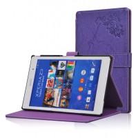 Чехол подставка текстурный для Sony Xperia Z3 Tablet Compact Фиолетовый