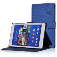 Чехол подставка текстурный для Sony Xperia Z3 Tablet Compact Синий