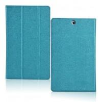 Сегментарный чехол подставка с рамочной защитой текстура Полосы для Sony Xperia Z3 Tablet Compact Голубой