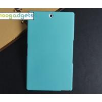Пластиковый матовый чехол для Sony Xperia Z3 Tablet Compact Голубой