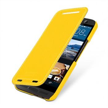 Кожаный чехол горизонтальная книжка (нат. кожа) для HTC One M9+