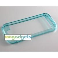 Силиконовый полупрозрачный бампер для Yotaphone 2 Голубой