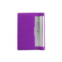 Силиконовый матовый текстурный чехол для Lenovo Yoga Tablet 2 8 Фиолетовый