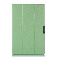 Текстурный чехол флип подставка сегментарный для Sony Xperia Z2 Tablet Зеленый
