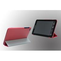 Чехол флип подставка сегментарный для Lenovo IdeaTab A5500 Красный