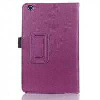 Чехол подставка с рамочной защитой для Lenovo IdeaTab A5500 Фиолетовый