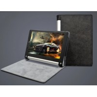 Текстурный чехол подставка с рамочной защитой для Lenovo Yoga Tablet 2 10 Черный