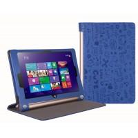 Текстурный чехол подставка с рамочной защитой для Lenovo Yoga Tablet 2 10 Синий