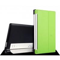 Кожаный чехол подставка для Lenovo Yoga Tablet 2 10 Зеленый