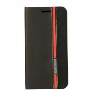 Дизайнерский чехол портмоне с тканевым покрытием подставка на силиконовой основе с внутренним карманом для Asus Zenfone Laser 5.5 ZE550KL Черный