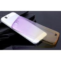 Силиконовый градиентный полупрозрачный чехол для Huawei Ascend G7 Фиолетовый