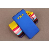 Пластиковый матовый непрозрачный чехол для Samsung Galaxy A5 Синий