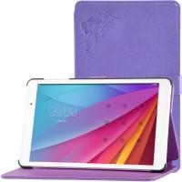 Сегментарный чехол книжка подставка текстура Узоры на непрозрачной поликарбонатной основе для Huawei MediaPad T2 10.0 Pro Фиолетовый