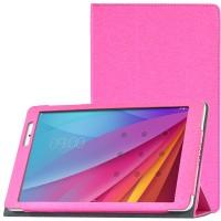 Сегментарный чехол книжка подставка с рамочной защитой экрана текстура Золото для Huawei MediaPad T2 10.0 Pro Пурпурный