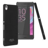 Пластиковый непрозрачный матовый чехол с повышенной шероховатостью для Sony Xperia XA  Черный