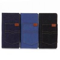 Чехол портмоне подставка на силиконовой основе с отсеком для карт и тканевым покрытием для Sony Xperia XA
