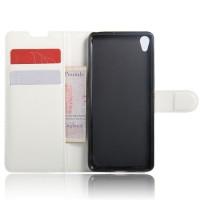 Чехол портмоне подставка на силиконовой основе на магнитной защелке для Sony Xperia XA Белый