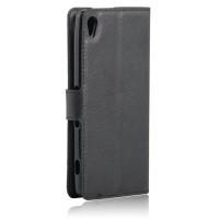 Чехол портмоне подставка на силиконовой основе на магнитной защелке для Sony Xperia XA Черный