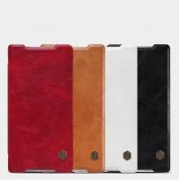 Винтажный чехол горизонтальная книжка на пластиковой основе с отсеком для карт для Sony Xperia XA