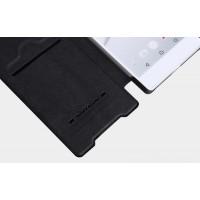 Винтажный чехол горизонтальная книжка на пластиковой основе с отсеком для карт для Sony Xperia XA  Черный
