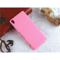 Пластиковый непрозрачный матовый чехол для Sony Xperia XA Розовый