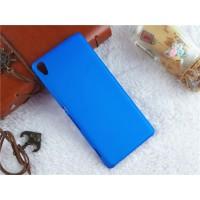 Пластиковый непрозрачный матовый чехол для Sony Xperia XA Синий