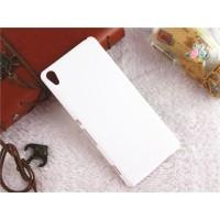 Пластиковый непрозрачный матовый чехол для Sony Xperia XA Белый