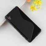 Силиконовый матовый полупрозрачный чехол с дизайнерской текстурой S для Sony Xperia X Performance