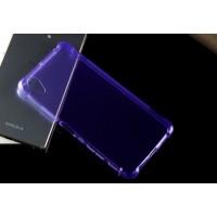 Силиконовый матовый полупрозрачный чехол с усиленными углами для Sony Xperia X Performance Фиолетовый