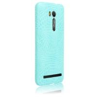 Чехол накладка текстурная отделка Кожа для ASUS Zenfone Go 5.5/Go TV Голубой