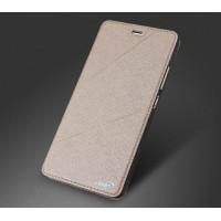 Чехол горизонтальная книжка текстура Линии на силиконовой основе для Huawei P9